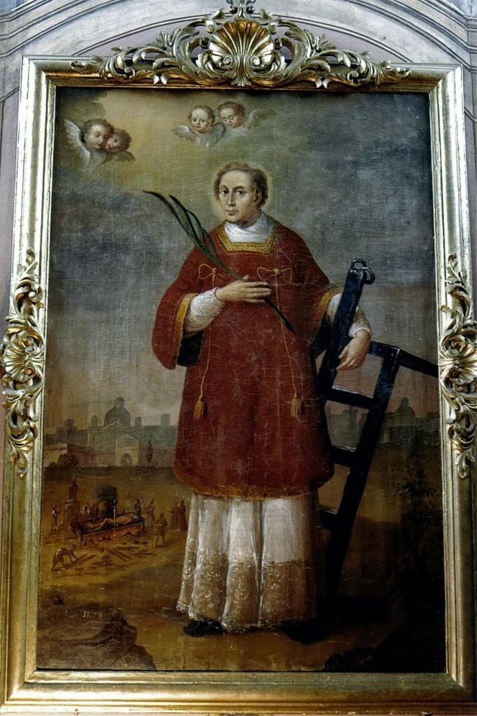 Święty Wawrzyniec Obraz w głównym ołtarzu