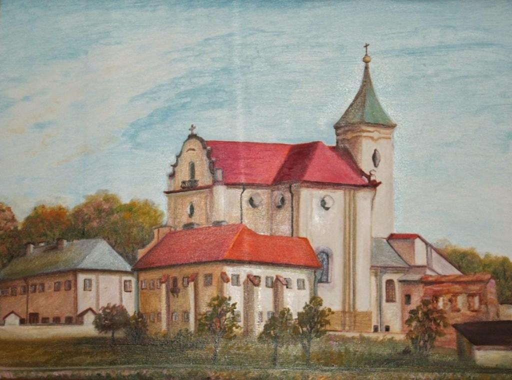 Kościół i klasztor pobenedyktyński ( malowidło współczesne)