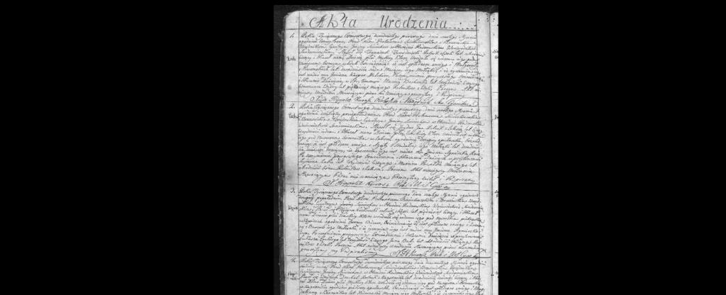 Akta urodzenia1821