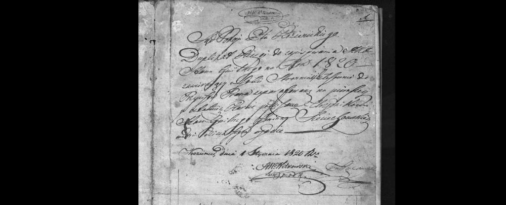 akta urodzin 1820